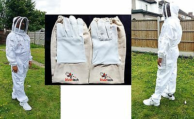 Beekeeper suit Beekeeping Bee Suit with Fencing Veil including Bee Gloves- XL