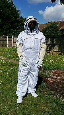 Beekeeper suit Beekeeping Bee Suit with Fencing Veil including Bee Gloves- 3XL