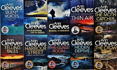 Ann Cleeves Collection Vera & Shetland 10 Books Set,The Glass Room,Thin Air