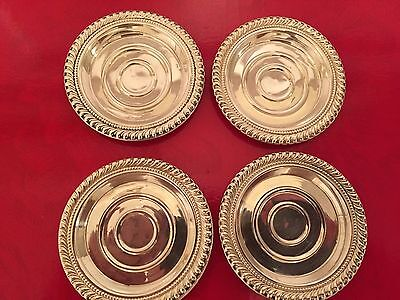 Set Of 4 Sterling Silver Nut Dish ( 54 Grams )
