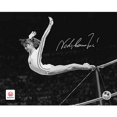 Nadia Comaneci Signed 16x20 in. Photo - Montreal 1976 Perfect Dismount