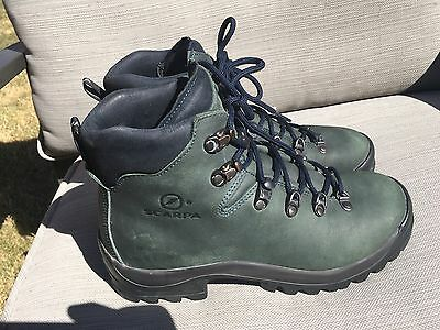 Scarpa Eiger Women 38.5/7.5 Leather Vibram Comfort Durable Hiking Steeltoe Boots