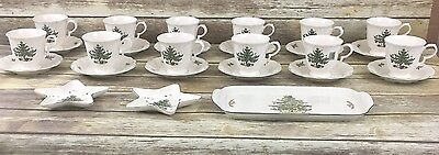 HUGE LOT!! (27) Nikko Japan Happy Holidays Christmas Tree Footed Cups Saucers
