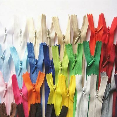10Pcs Nylon Invisible Zippers Clothes Sewing Garment  Accessories Closed End