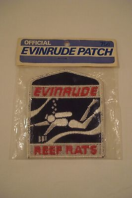 NEW & SEALED Evinrude Reef Rats SCUBA Patch, Original Official Vintage Boat Ad
