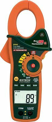 Extech EX840 Clamp Meter with Built-In Infrared Thermometer