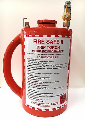 New Drip Torch Fire Lighter powder coated 4L light weight canister with wand