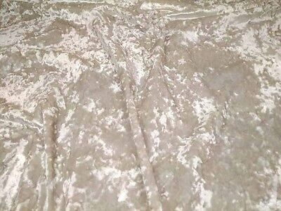 """IVORY CREAM - CRUSHED VELVET upholstery fabric material 320GSM - 56"""" width"""