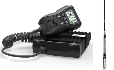 CRYSTAL 5 WATT DB477D UHF CB RADIO WITH REMOTE DISPLAY MIC + GME AE4018k2ANTENNA