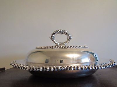 EG Webster & Son IS Silverplated Lidded Serving Tureen Staffordshire Pattern