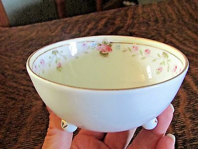 Nippon Small Handpainted Bowl With Rose Flowers, 4""