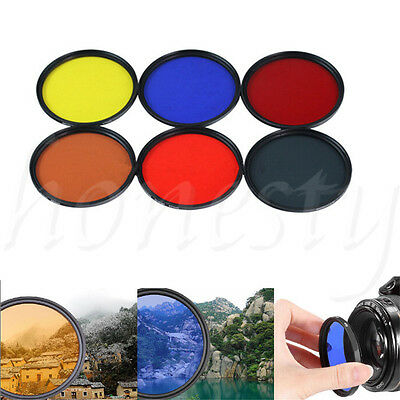 58mm Complete Full Color / ND 2 4 8 Lens Filter For DSLR SLR Camera Free option