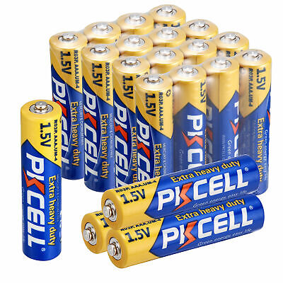 20x R03P AAA UM-4 1.5V Heavy Duty Zinc-Carbon Triple A Batteries PKCELL