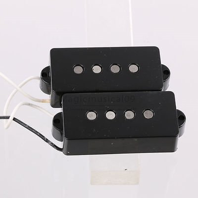 Bass Guitar Pickups Vintage Style For P Bass Alnico 5 Magnets Black