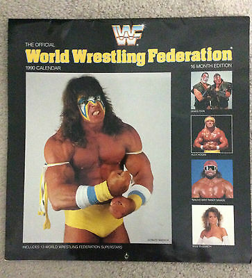 WWF WRESTLING Official 1993 Calendar 16 Month Edition Ultimate Warrior/Savage