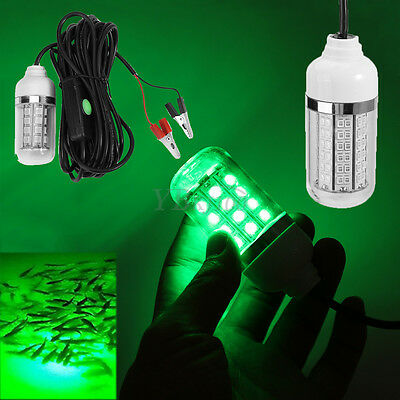 12V 108 LED Underwater Submersible Night Fishing Light Shad Bait Lure Squid Boat