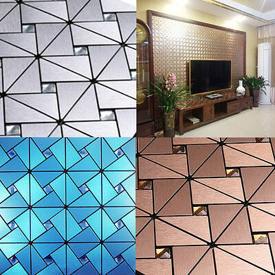 Mosaic 3D Panels Wallpaper Sticker Home Hotel KTV Tile Wall DIY Decor Panelling