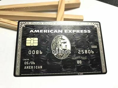 Customize American Express AMEX Black Centurion Card METAL Personalize Gift 08E