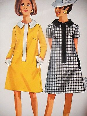 ❤️ 1960s Vintage Butterick 4708 Flared A Line Dress Misses Sewing Pattern Sz 12