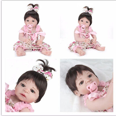 22'' Full Body Vinyl Silicone Lifelike Reborn Baby Girl Doll Handmade