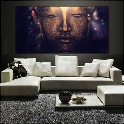 Buddha Abstract Canvas Print Art Oil Painting Wall Picture Home Decor Unframed