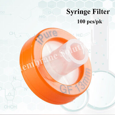 100pcs/pk Syringe Filter OD=13mm,Pore Size=0.7μm,made with GF,ipure,Non sterile