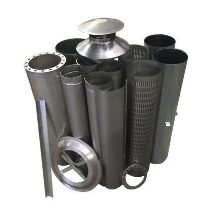 Wood Fire Flue Kits - Decorative Mesh Kits – Full Kit Stainless. Not painted