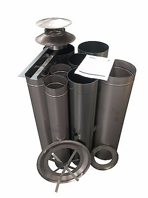 "Wood Fire Flue Kit - 150 (6"") Stainless."