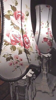Rachel Ashwell Floral Somerset Fabric Lampshades Shabby Chic Vintage Table Lamp