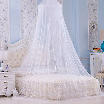 AU Round Lace Bed Canopy Mosquito Net Girls Bedroom Curtain Dome Princess Canopy