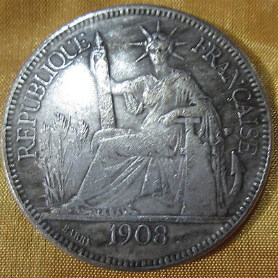 American Dollar 1908 Coin Evil Repellent Safeguard Gather Wealth US Gift