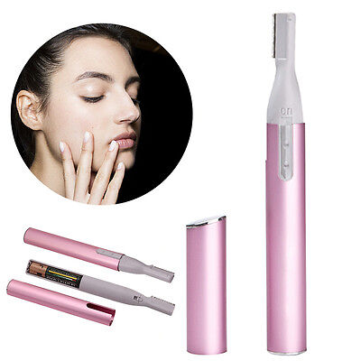 Pink Women Ladies Bikini Hair Remover Eyebrow Shaper Shaver Trimmer
