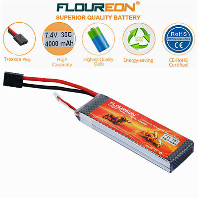 2S 7.4V 4000mAh 30C LiPo Battery Pack Traxxas for RC Airplane Quadcopter Truck