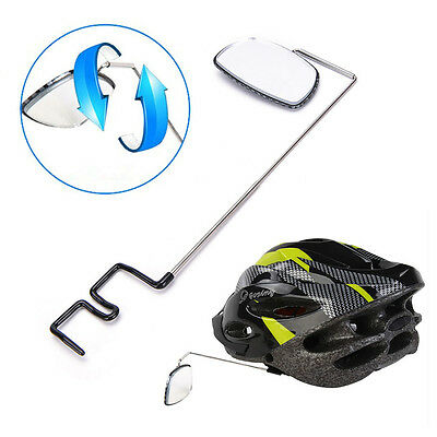 Bike Bicycle Cycling Riding Mirror Helmet Mount Rearview Rear View Eyeglass