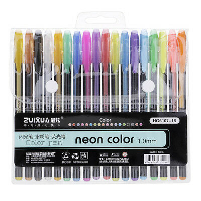 12/18/24/36/48 Colors Neon Color Glitter Pen Refills Drawing Pens Kid Gifts