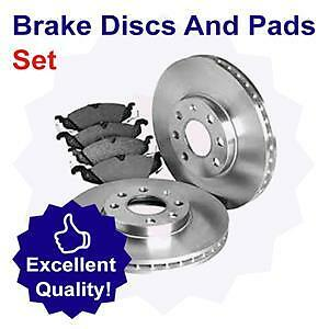 Rear Brake Disc and Pad Set for Mercedes Benz SL350 3.7 (01/03-04/06)