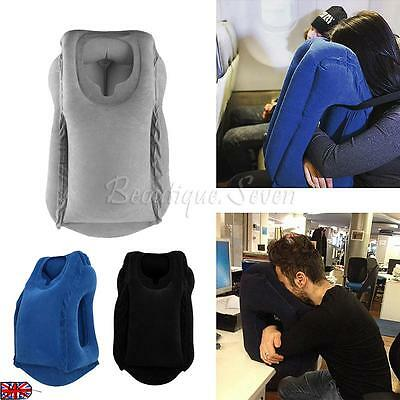 New Hot Inflatable Luxury NeckTravel Pillow Air Filled Airplane Cushion