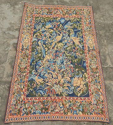 Vintage French Beautiful Feuilles d'Aristoloches Tapestry 104x69cm (A731)