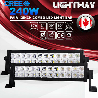 20Inch 210W Philips 7D LED Light Bar Spot Flood Driving Lamp Offroad 4WD SUV ATV