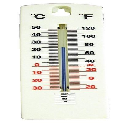 Office Thermometer H200xW45mm White CY61761 [CY61761]