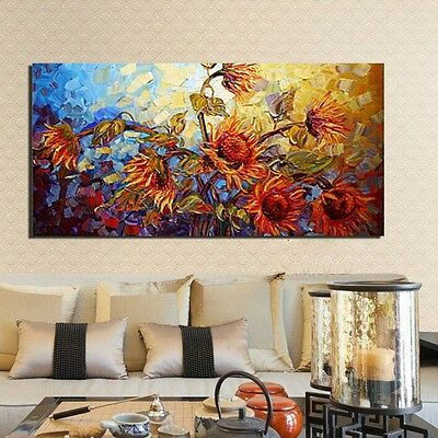 Hand-painted Abstract Flower Canvas Art Oil Painting Print Home Decor Unframed