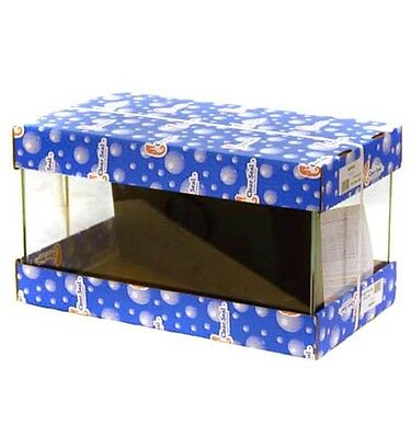 "Clear Seal Aquarium With Black Plastic Hood 46x25x25cm (18x10x10"")"