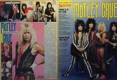 2 german clipping MÖTLEY CRÜE VINCE NEIL N. SHIRTLESS ROCK BOY BAND BOYS GROUP