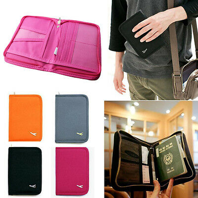 Travel Bag Passport Holder Wallet Purse Tickets ID Document Organiser cover AU