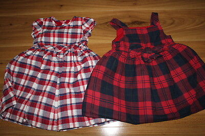 George M&Co girls checked dress bundle 12-18 months *I'll combine postage