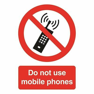 Safety Sign Do Not Use Mobile Phones A5 Self-Adhesive PH01051S [SR11193]