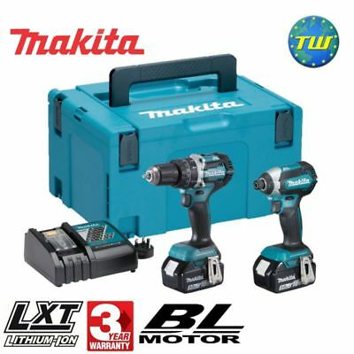Makita DLX2180TJ 18V Cordless BRUSHLESS Twin Pack with 2x 5.0Ah Li-ion Batteries