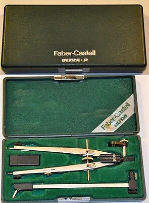 compasso Faber Castell Ultra-P vintage Technical drawing compass set