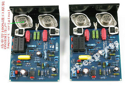 Assembled QUAD405 CLONE AMP Board with MJ15024 +Angle Aluminum (2 Channel)