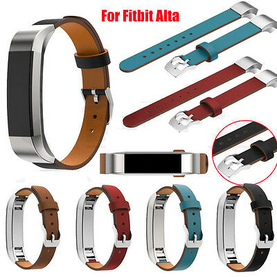 Replacement Genuine Leather Wrist Watch Bands Straps Bracelet For Fitbit Alta/HR